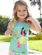 Carter's® Turquoise Aloha Girl Top – Toddler Girls