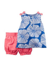 Carter's® 2-pc. Floral Top & Bubble Shorts Set – Toddler Girls
