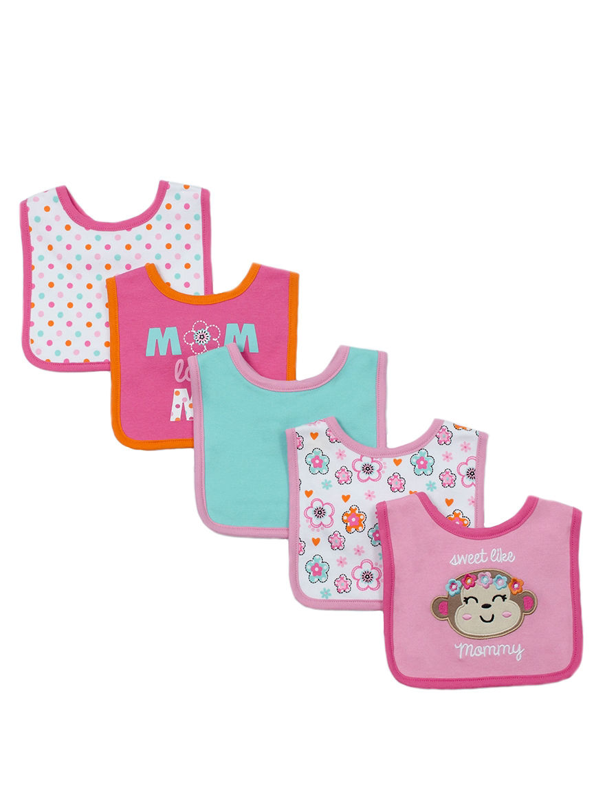 Baby Gear Pink Bibs & Burp Cloths