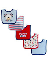 Baby Gear 5-pk. I Woof You Dog Bibs