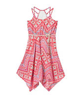 Star Ride Multicolor Aztec Print Dress - Girls 7-16