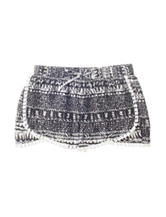 Vanilla Star Black & White Aztec Print Shorts –Girls 7-16