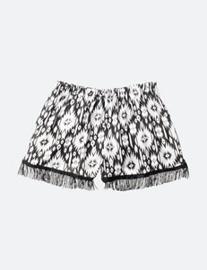 Limited Too Black & White Print Woven Shorts – Girls 7-16