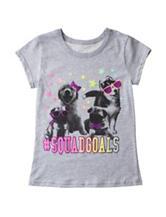 Twirl Heathered Gray Puppy Squad Top – Girls 7-16