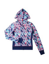 RBX Multicolor Abstract Print Jersey Hoodie – Girls 7-16