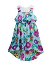 Youngland Floral Print Hi-Lo Dress – Girls 4-6x
