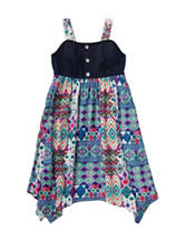 Youngland Patchwork Print Dress – Toddler & Girls 5-6x