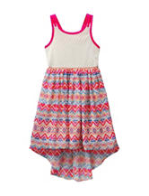 Youngland Multicolor Aztec Print Dress – Toddler & Girls 5-6x