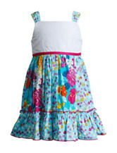 Youngland Multicolor Floral Print Dress – Toddler Girls