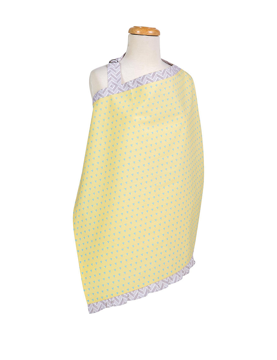 Trend Lab Yellow / Blue Bibs & Burp Cloths Breastfeeding
