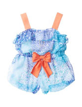 Rare Editions Mixed Media Sunsuit – Baby 3-24 Mos.