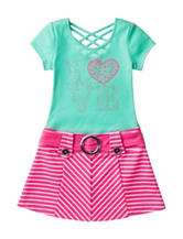 Pinky Love Chevron Print Dress - Girls 4-6x