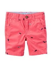 Carter's® Pink Bug Canvas Shorts – Toddler Boys