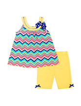 Little Lass 2-pc. Chevron Top & Shorts Set – Toddlers & Girls 5-6x