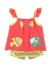 Rare Editions 2-pc. Fish Top & Short Set - Toddler & Girls 5-6x