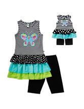 Dollie & Me 2-pc. Butterfly Top & Leggings Set – Girls 4-14