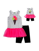 Dollie & Me 2-pc. Ice Cream Top & Shorts Set – Girls 4-14