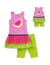 Dollie & Me 2-pc. Watermelon Top & Leggings Set – Girls 4-14