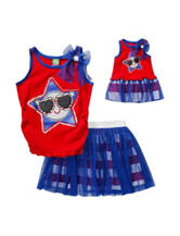 Dollie & Me 2-pc. Red & Blue Glitter Scooter Set – Girls 4-14