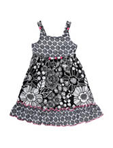 Youngland Poplin Sundress with Beading - Girls 2-6x