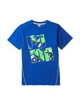 Puma® Royal Blue Mixed Media Logo T-Shirt - Boys 8-20