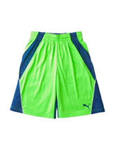 Puma® Green & Navy Color Block Shorts - Boys 8-20