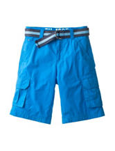 Tommy Hilfiger Solid Color Blue Cargo Shorts - Boys 8-20