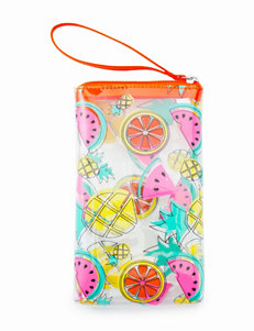 On The Verge Multicolor Fruit Print Wristlet