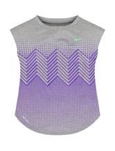 Nike® Grey & Purple Geometric Dri-FIT Top – Toddler Girls