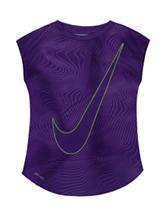 Nike® Violet Swoosh Dri-FIT Top – Toddler Girls