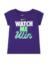 Nike® Dark Purple Watch Me Win Top – Girls 4-6x