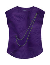 Nike® Violet Swoosh Dri-FIT Top – Girls 4-6x