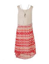 Speechless Fringe Aztec Dress - Girl's 7-16