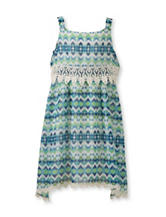 Speechless Lace Aztec Popover Dress – Girls 7-16