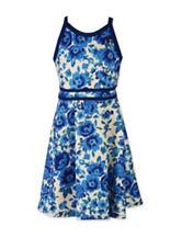 Speechless Floral Print Scuba Dress – Girls 7-16