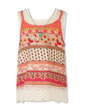 Speechless Multicolor Crochet Hem Top - Girls 7-16