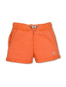 Puma Solid Color Orange Cuffed Short - Girls 7-16