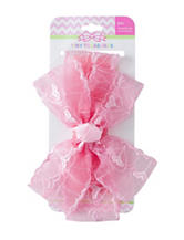 Tiny Treasures Pink Heart Bow Headband