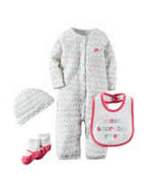 Carter's® 4-pc. Hello Cutie Convertible Gown Set –  Preemie & Baby 0-9 Mos.