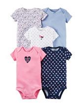 Carter's® 5-pk. Spring Flower Bodysuits – Baby 0-9 Mos.