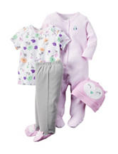 Carter's® 4-pc. Owl Layette Set – Preemie & Baby 0-9 Mos.