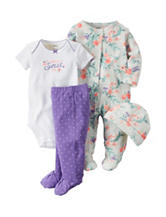 Carter's® 4-pc. Daddy's Sweet Girl Bodysuit & Leggings  Set – Preemie & Baby 0 - 9 Mos.