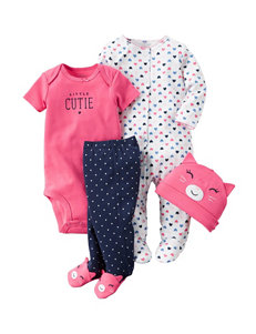 Carter's® 4-pc. Little Cutie Bodysuit & Leggings Set – Baby 0-9 Mos.