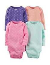 Carter's® 4-pk. Dot Print Bodysuits – Baby 0-24 Mos.