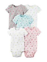 Carter's® 5-pk. Floral Bodysuits - Baby 0-9 Mos.