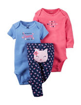 Carter's® 3-pc. Cat Leggings Set – Baby 0-24 Mos.