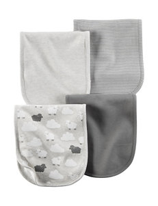 Carter's® 4-pk. Grey Lamb Burp Cloths
