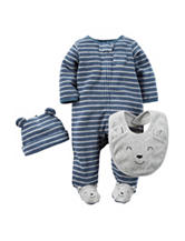 Carter's®  3 Pc. Stripe Terry Sleeper Set – Toddler Boys