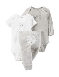 Carter's® 3-pc. Little Lambie Bodysuit Set - Baby 0-12 Mos.