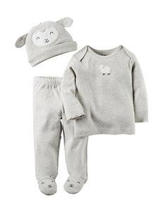 Carter's® 3-pc. Little Lambie Top & Leggings Set – Baby 0-9 Mos.